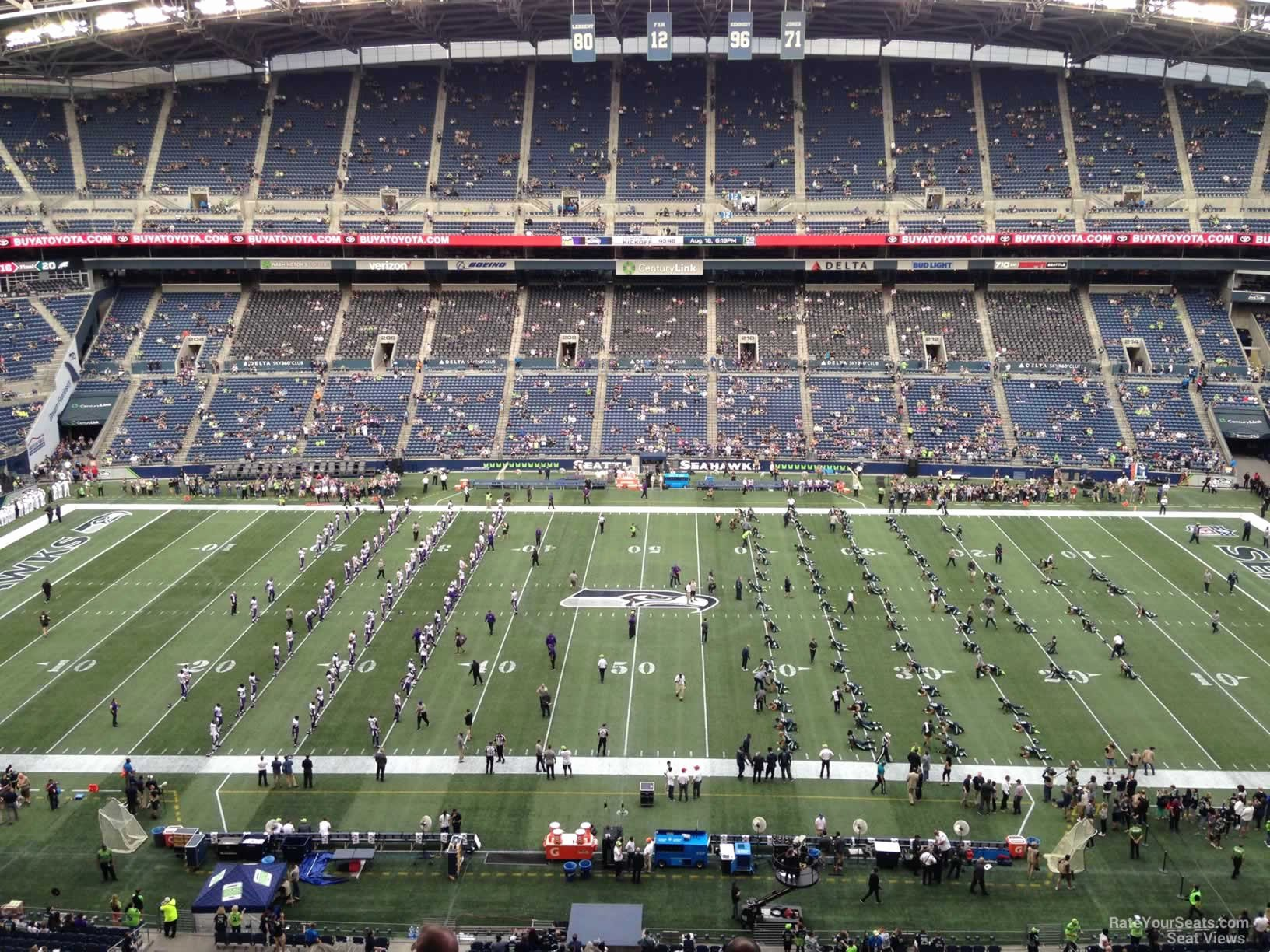 Seahawks Stadium Seat View Elegant Centurylink Field Section 335 Seattle Seahawks