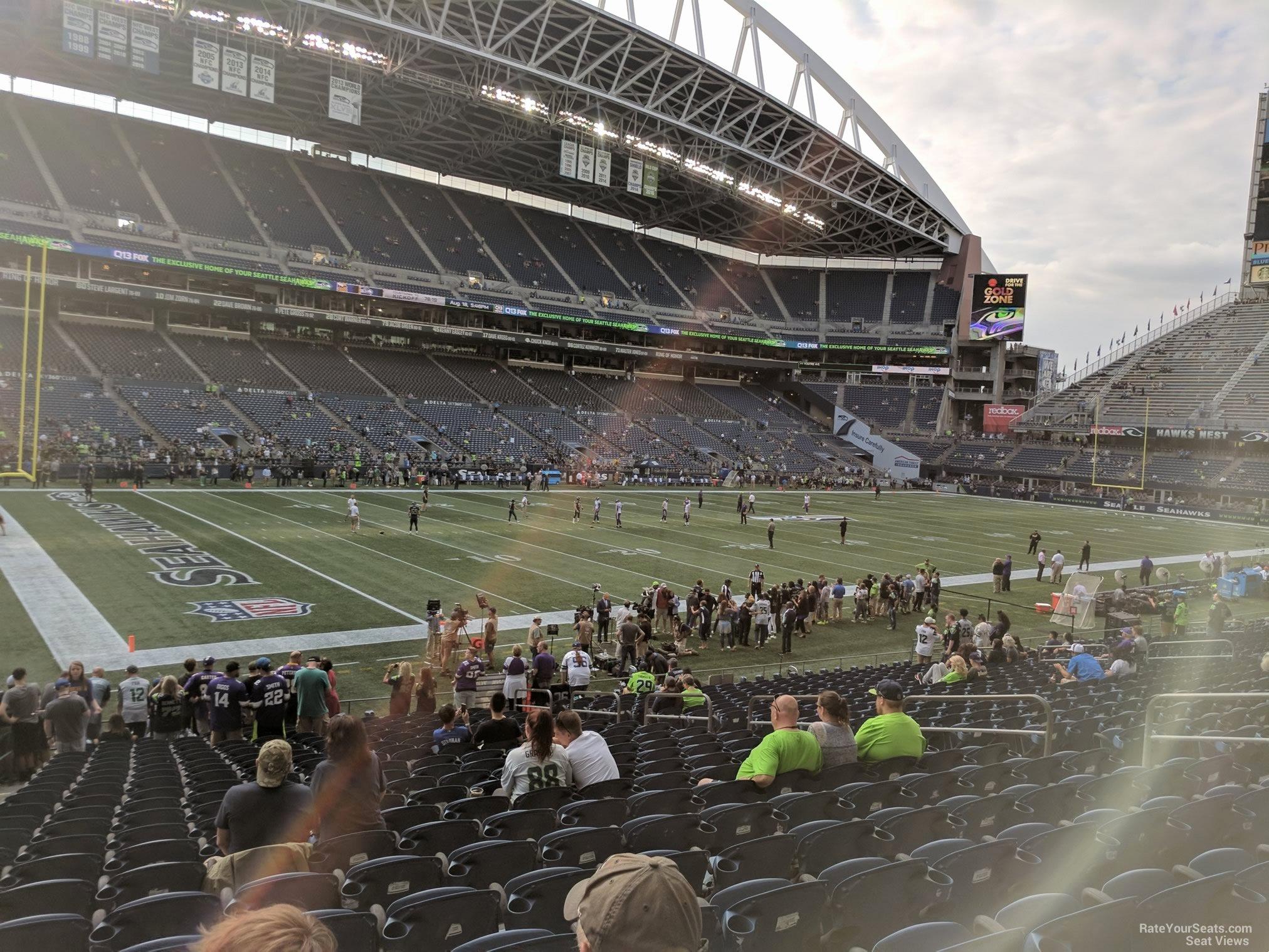 Seahawks Stadium Seat View Unique Centurylink Field Section 114 Seattle Seahawks