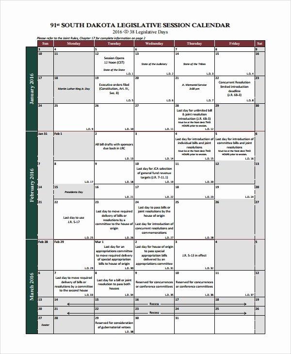Senate Bill Template Fresh Sample Bill Calendar 6 Documents In Pdf