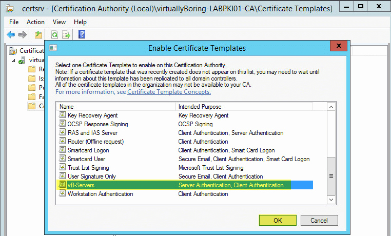setup microsoft active directory certificate services ad cs