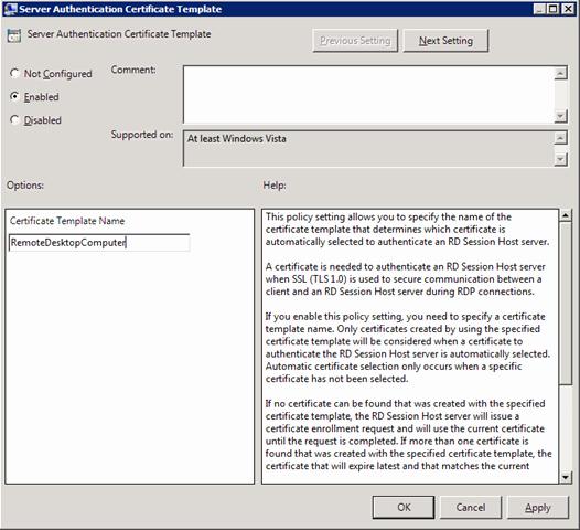 Server Authentication Certificate Template Inspirational Configuring Remote Desktop Certificates Microsoft Tech