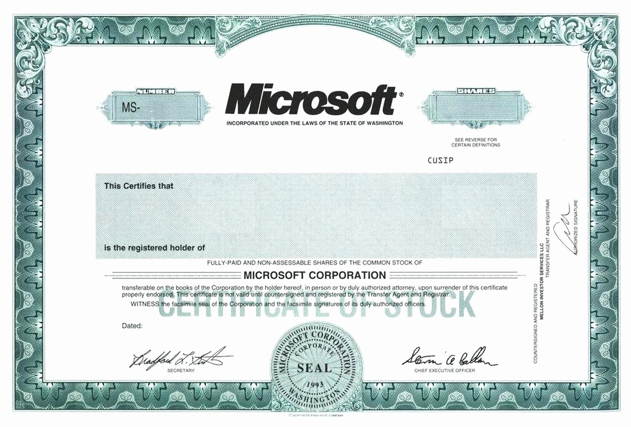 Share Certificate Template Free Download Elegant Blank Free Mon Stock Certificate Template Microsoft