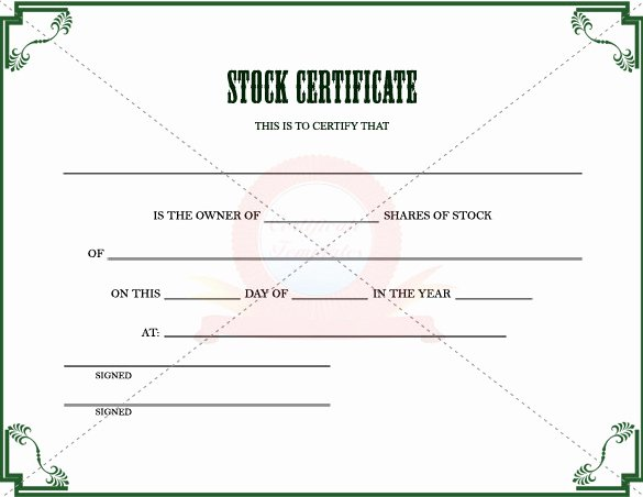 Share Certificate Template Free Download Inspirational Stock Certificate Template to Download In Pdf Printable