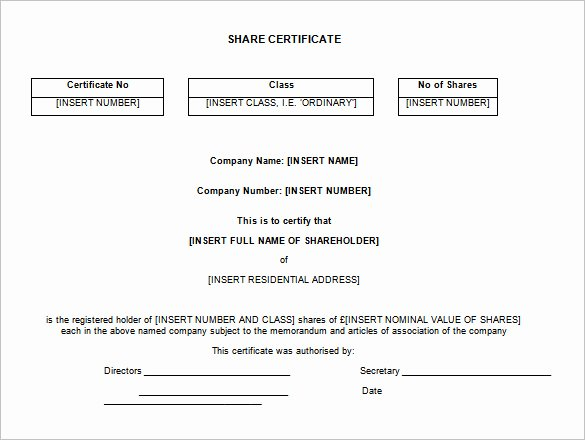 Share Certificate Template Free Download Lovely Certificate Template south Africa – Printable