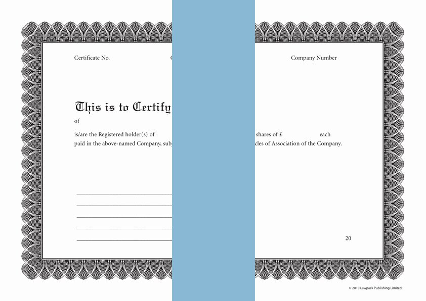 Share Certificate Template Free Download New Certificate form Template & Sample