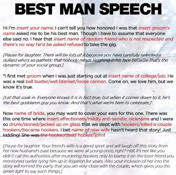 Short Best Man Speech Template Beautiful 7 Best Images About Speeches On Pinterest