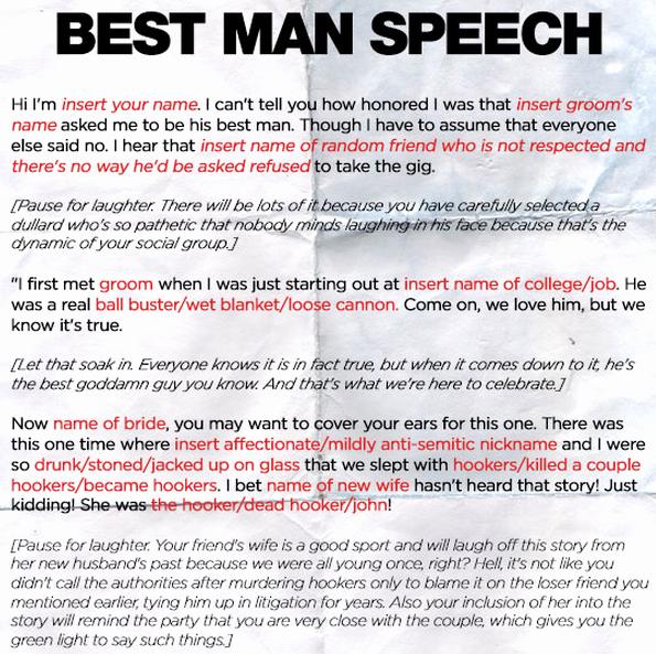 Short Best Man Speech Template Beautiful Funny Best Man Speech Quotes Quotesgram