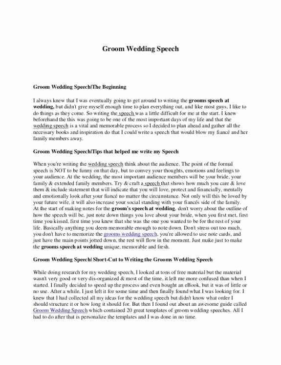 Short Best Man Speech Template Beautiful Samples Wedding Speeches