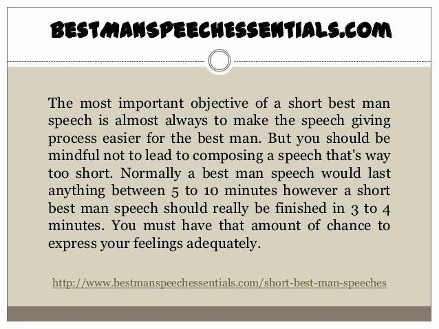 Short Best Man Speech Template Lovely How to Make Short Best Man Speeches