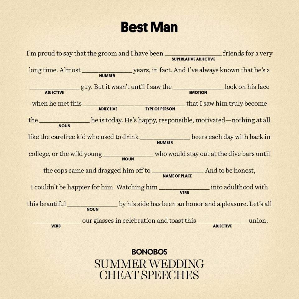 Short Best Man Speech Template Lovely Writing A Best Man Speech for Brother