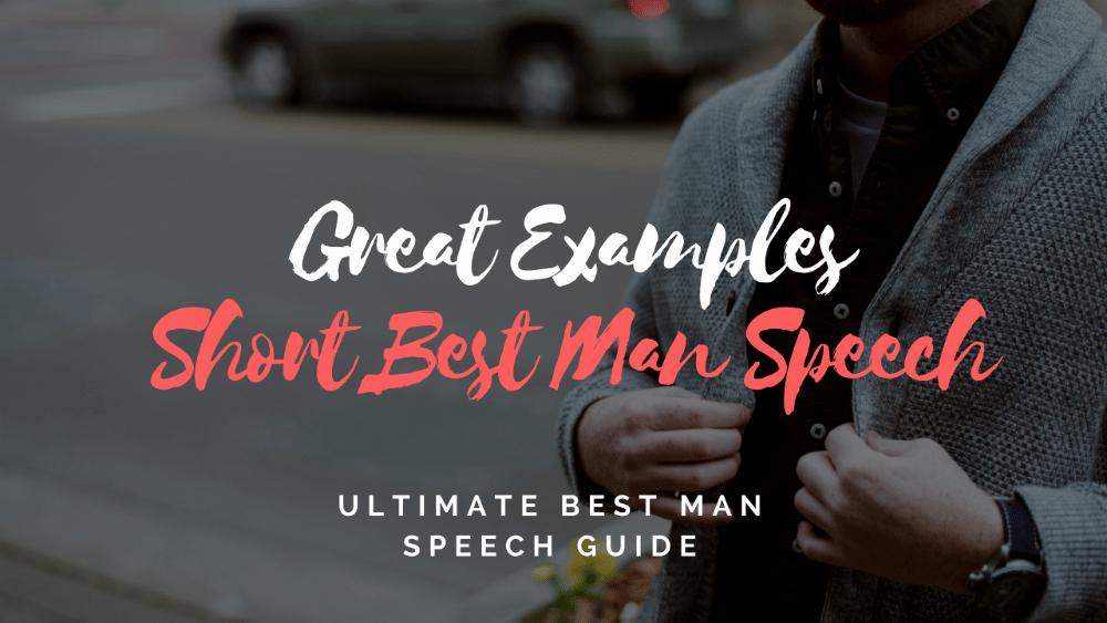 Short Best Man Speech Template Unique Best Man Speeches