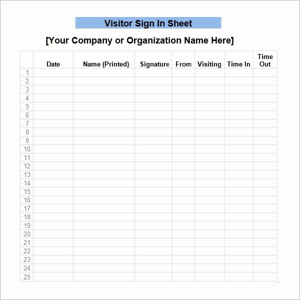 Sign In Template Pdf Best Of Free 32 Sample Sign In Sheet Templates In Pdf