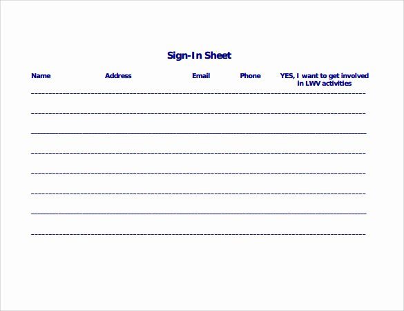Sign In Template Pdf Unique Sign In Sheet Template 21 Download Free Documents In