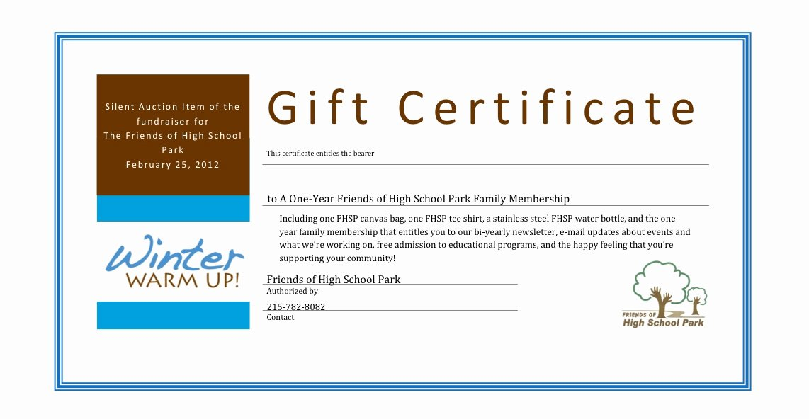 Silent Auction Gift Certificate Template Lovely Certificate Templates Charity Voucher Templates Pany
