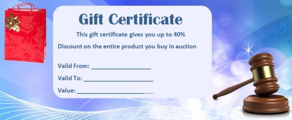 Silent Auction Gift Certificate Template Luxury Silent Auction Gift Certificate Samples