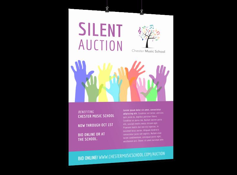 Silent Auction Item Description Template Unique Silent Auction Poster Template