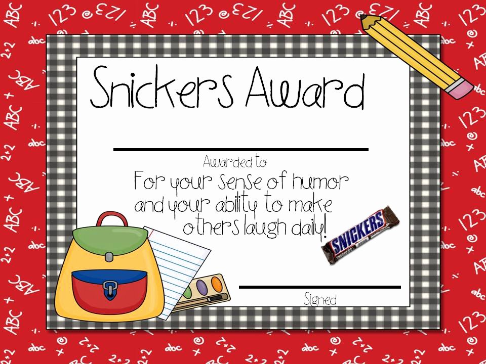 Silly Awards for Kids Best Of Candy Awards Tunstall S Teaching Tidbits