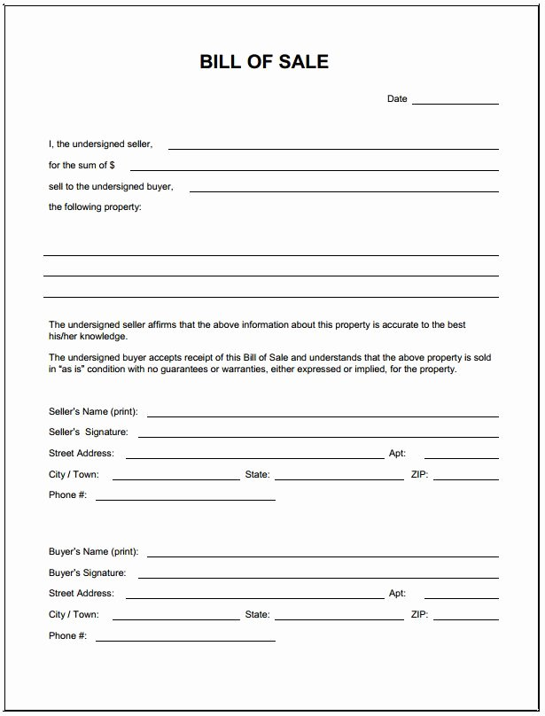 Simple Bill Of Sale for Golf Cart Best Of Download Bill Sale form Pdf