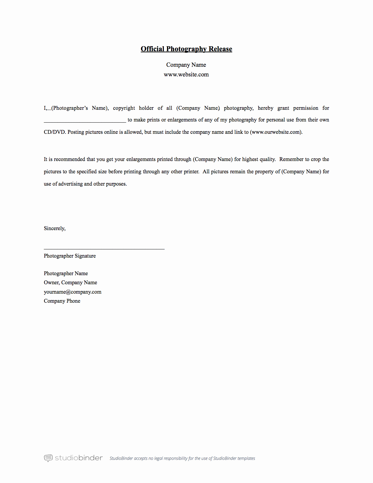 Simple Copyright Statement Best Of why You Should Have A Release form Template
