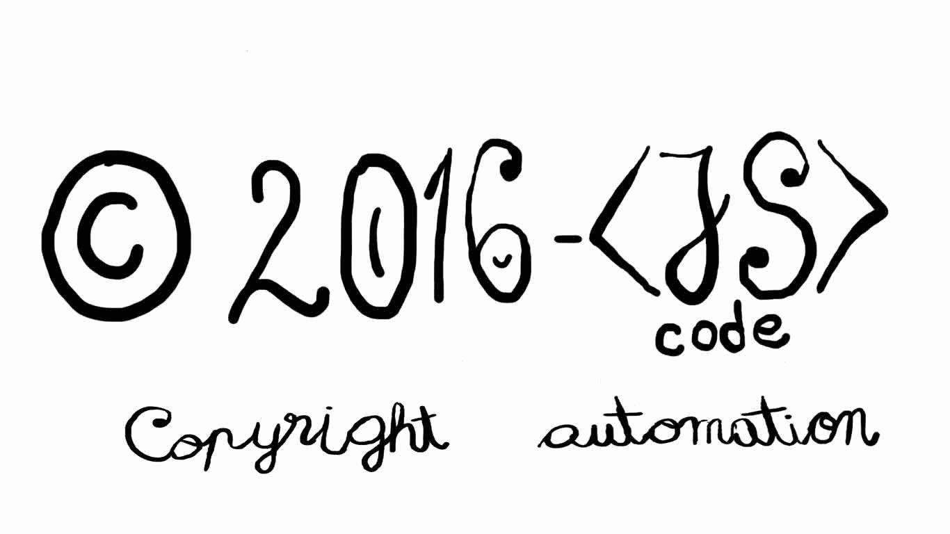 Simple Copyright Statement Fresh Copyright Automation Jscode Botond Bertalan