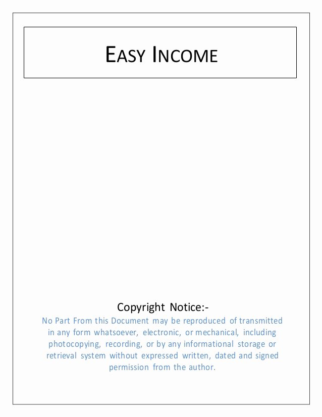 Simple Copyright Statement Inspirational Easy In E Make Over 100$ A Day