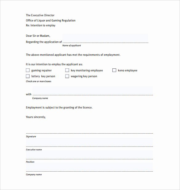 sample simple letter of intent
