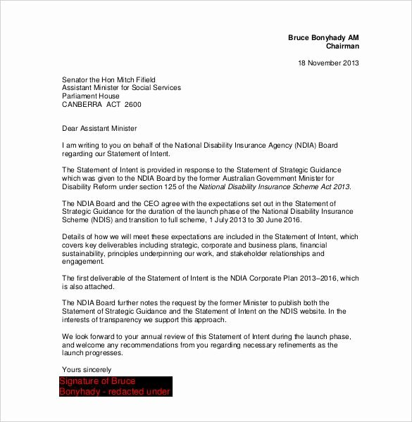 Simple Letter Of Intent to Purchase Property New Letter Intent Template