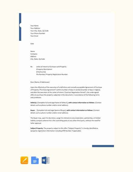 Simple Letter Of Intent to Purchase Property Unique 10 Letters Of Intent to Purchase Property Pdf Word