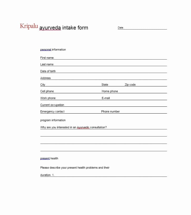 Simple Massage Intake form Unique 59 Best Massage Intake forms for Any Client Printable
