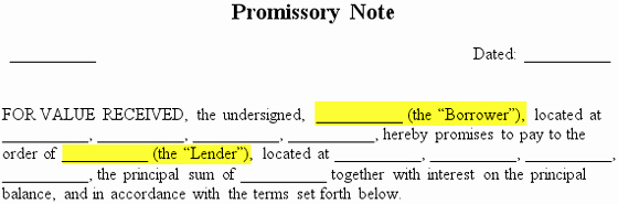 Simple Promissory Note No Interest Fresh Promissory Note Free Promissory Note Template & Sample