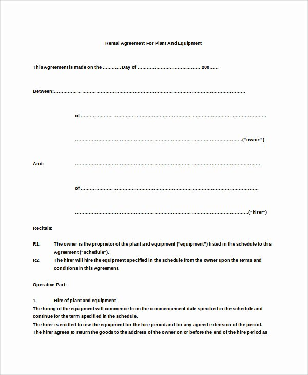 Simple Rent Agreement form New Simple Lease Agreement – Emmamcintyrephotography