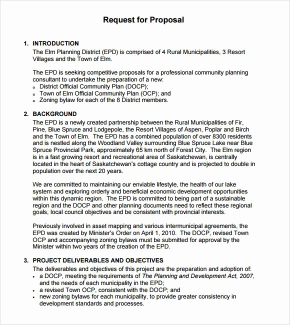 Simple Request for Proposal Example New Sample Rfp Template 8 Free Documents In Pdf Word