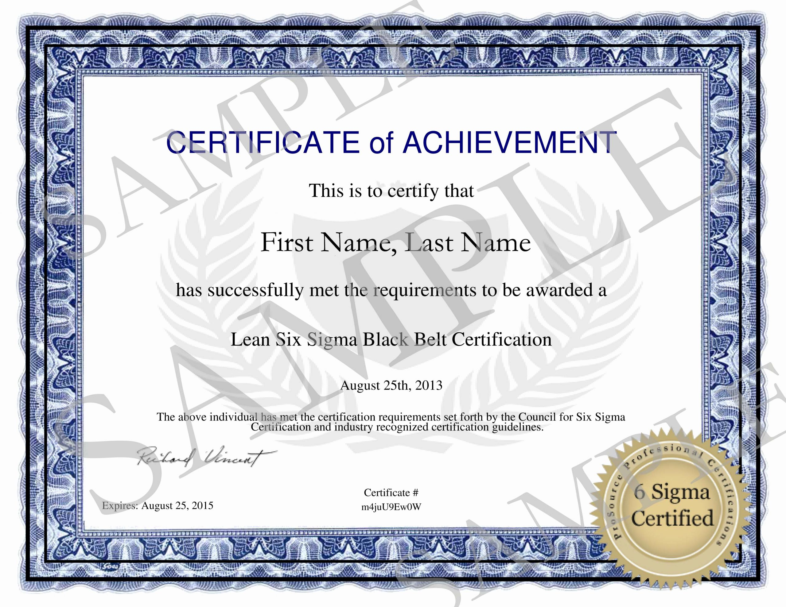 Six Sigma Green Belt Certificate Template Awesome Six Sigma Green Belt Certification