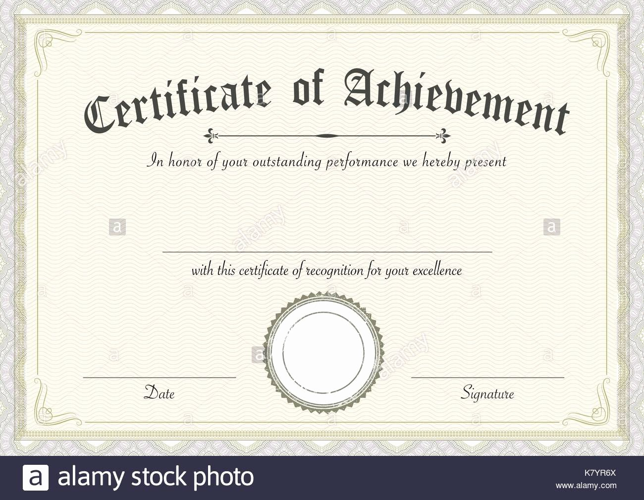 Size Of Certificate Paper Awesome Certificate Achievement Stock S & Certificate