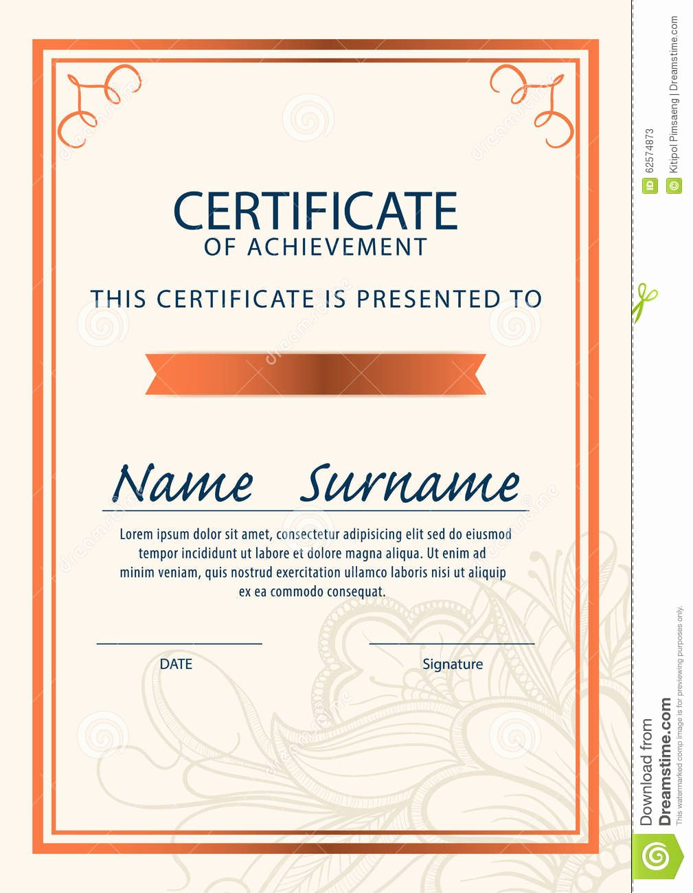 Size Of Certificate Paper Best Of Certificate Template Diploma A4 Size Vector Stock Vector