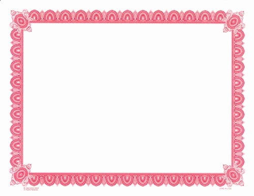 Size Of Certificate Paper Best Of Goes Letter Sized D Pre Printed Border Certificate Paper