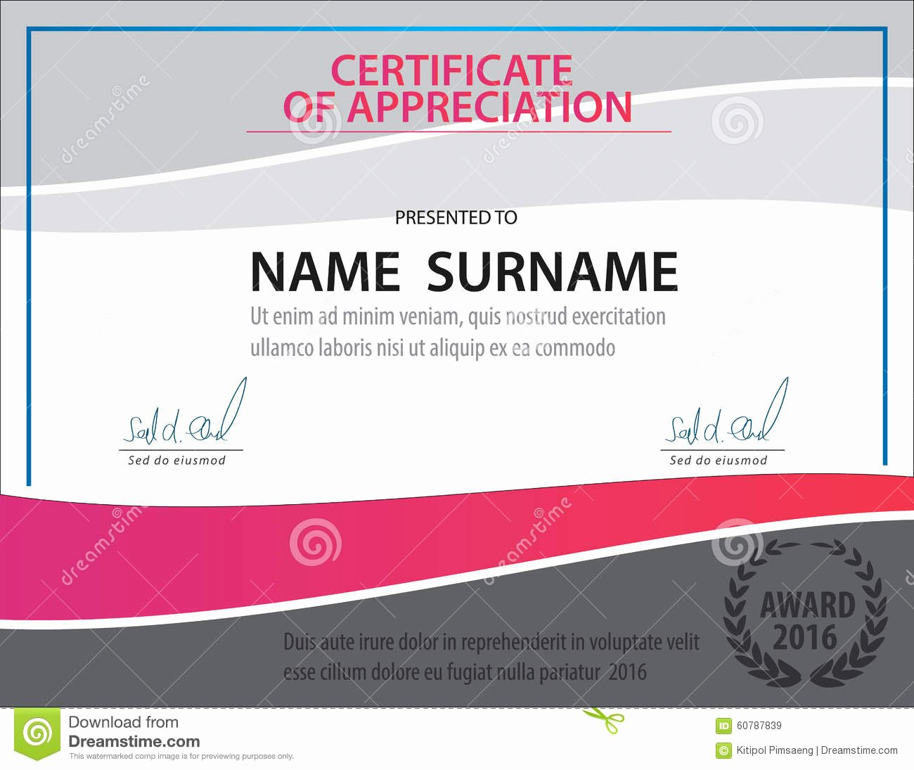 Size Of Certificate Paper Elegant A4 Size Certificate Grunge Retro Paper Background Stock