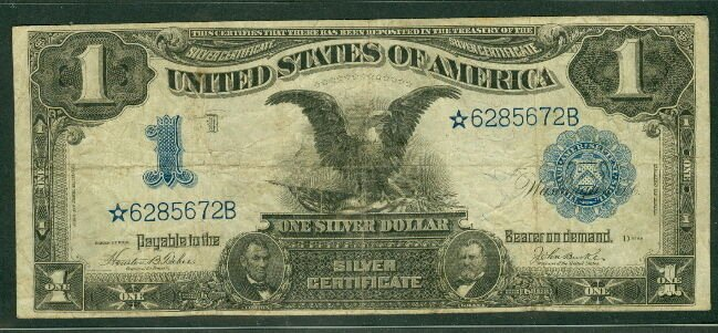 """Size Of Certificate Paper Inspirational $1 00 Silver Certificate """"black Eagle"""" Star Note 1899"""