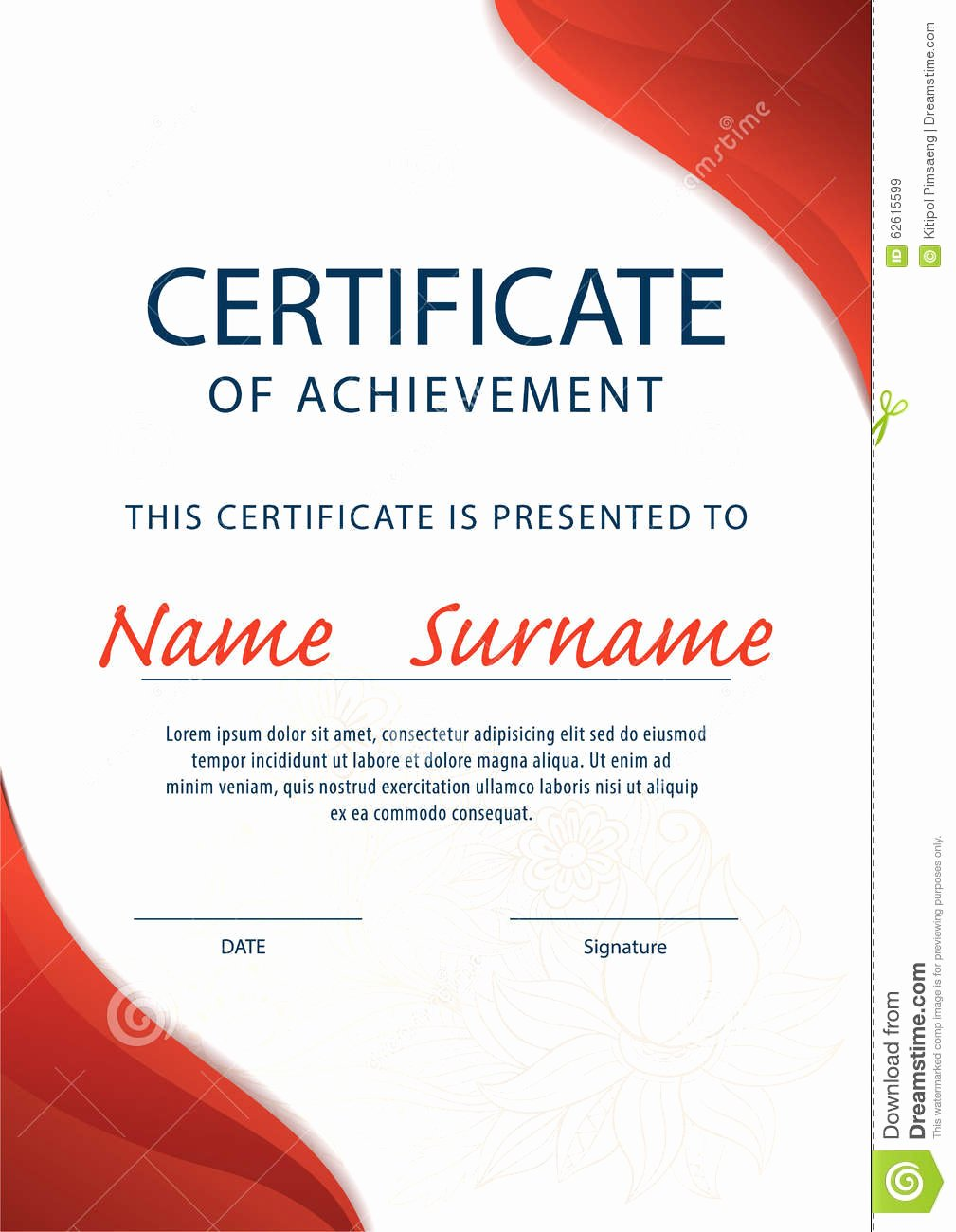 Size Of Certificate Paper Inspirational Certificate Template Diploma A4 Size Vector Cartoon