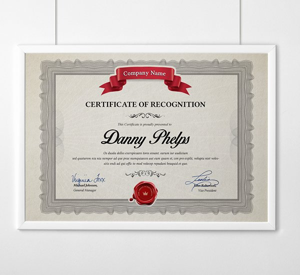 Size Of Certificate Paper Inspirational Multipurpose Certificates A4 and Us Letter Size On Behance