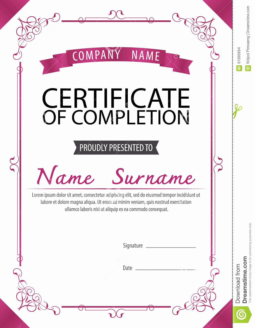 Size Of Certificate Paper Luxury A4 Size Certificate Grunge Retro Paper Background Stock
