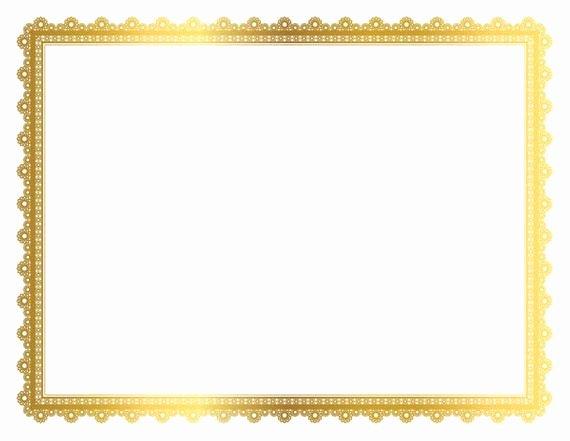 Size Of Certificate Paper Luxury Gold Decorative Frame Page Border Digital Frame Border