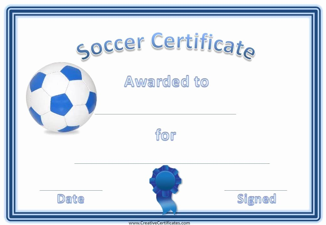 Soccer Award Certificate Template Inspirational 13 soccer Award Certificate Examples Pdf Psd Ai
