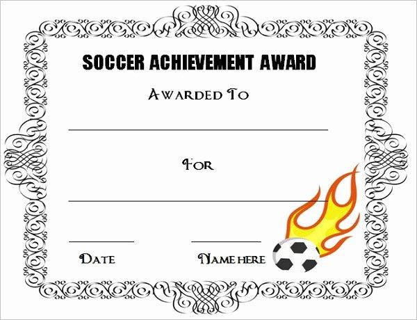 Soccer Award Certificate Template Inspirational soccer Awards Template