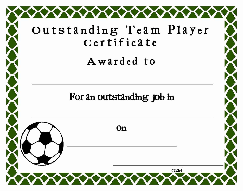 Soccer Award Certificate Template Lovely soccer Certificate Templates Blank