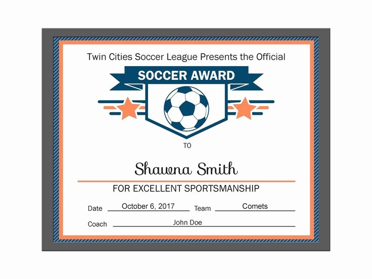 Soccer Award Certificate Template Luxury 21 Best Diy Editable Certificates Images On Pinterest