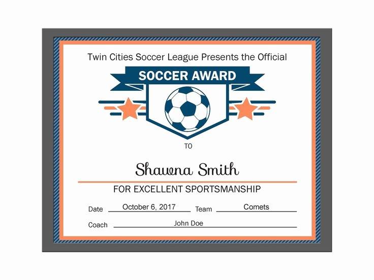 Soccer Award Certificate Template Luxury 21 Best Diy Editable Certificates Images On Pinterest