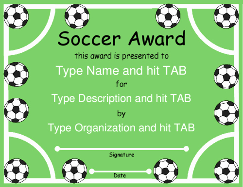 Soccer Award Certificate Templates Best Of Award Certificate Templates soccer Pinterest
