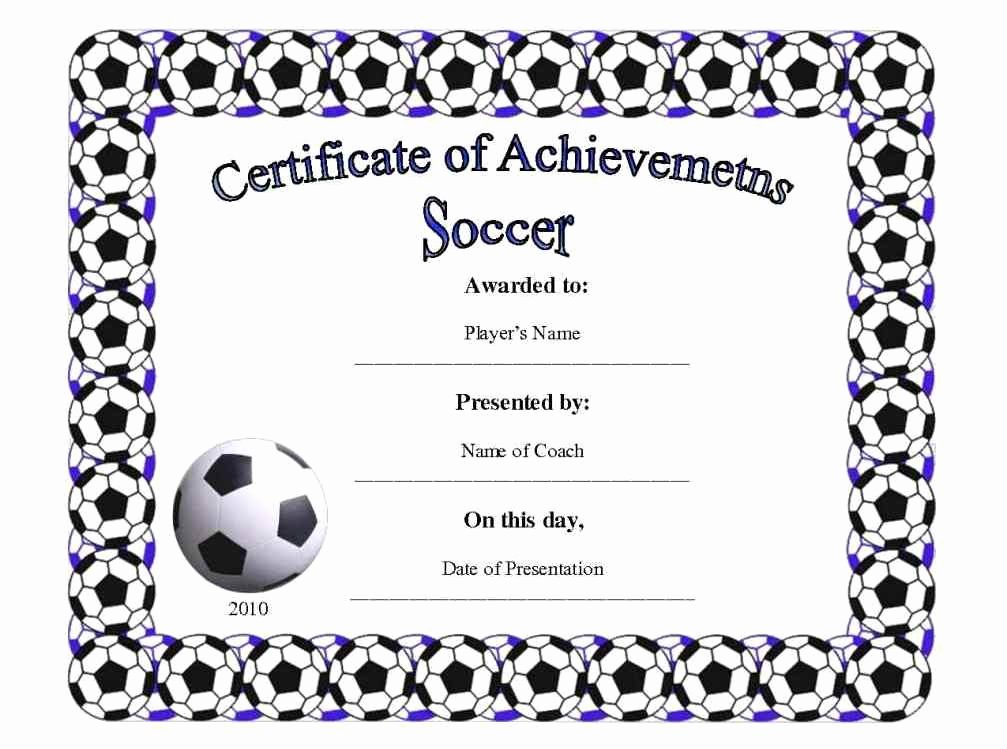 Soccer Award Certificate Templates Best Of Free Printable Football Certificates Template Update234