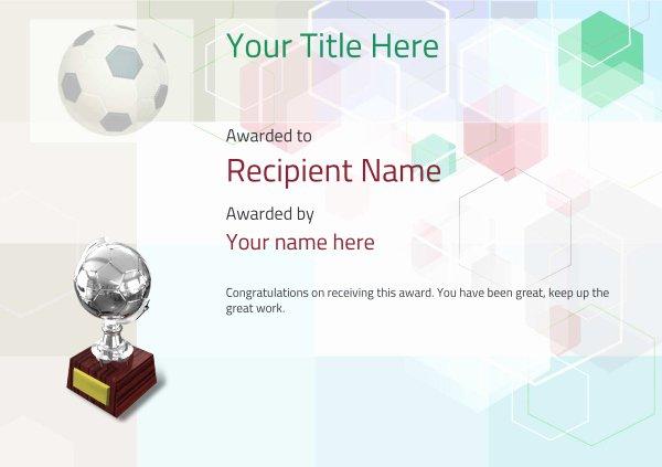 Soccer Award Certificate Templates Elegant Free soccer Certificate Templates Add Printable Badges